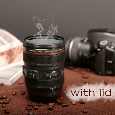 Creative Self Stirring Coffee Mug with Camera Lens Design