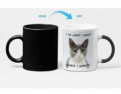 Bossy Kitten Heat Sensitive Color Changing Coffee Mug