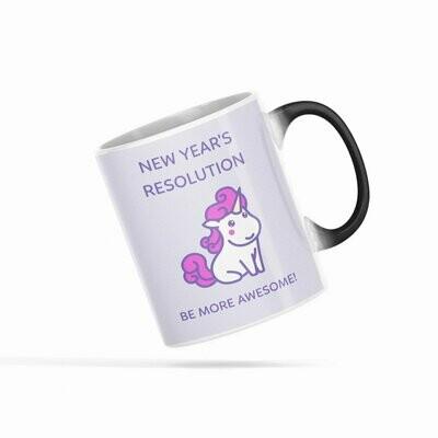 Be More Awesome Unicorn Heat Sensitive Color Changing Mug