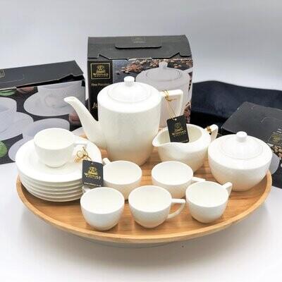 16 Piece Fine Julia Espresso/coffee Entertaining Set WL-555060