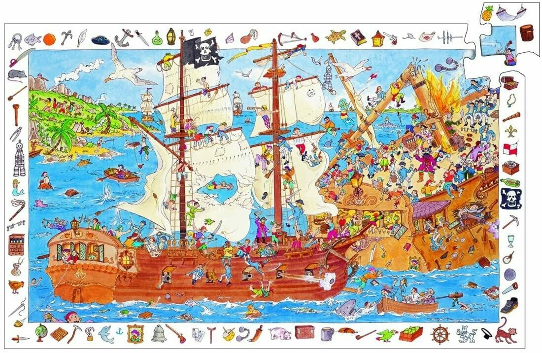 Pirate Puzzle Observation 100