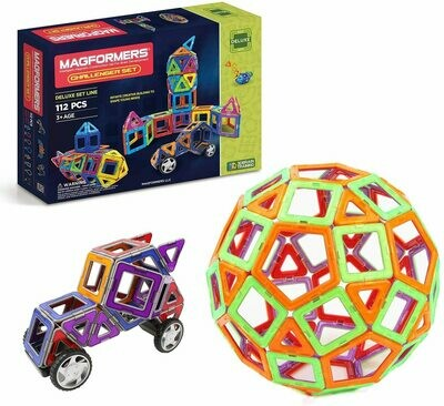 Magformers Magnetic 112-Piece Challenger Set