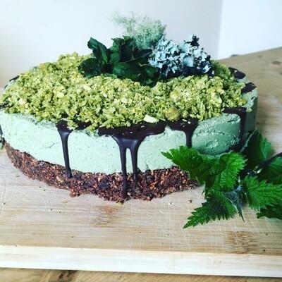 Raw Nettle Moss Cake