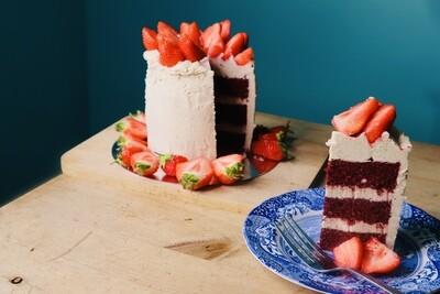 Raw Beetroot Red Velvet Cake