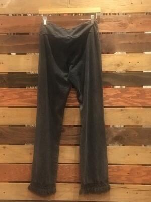 Chatoyant Grey Pants With Fringe
