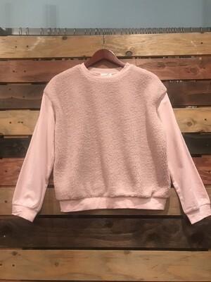 Furry pink top