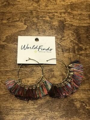Fringed Earrings/World Finds