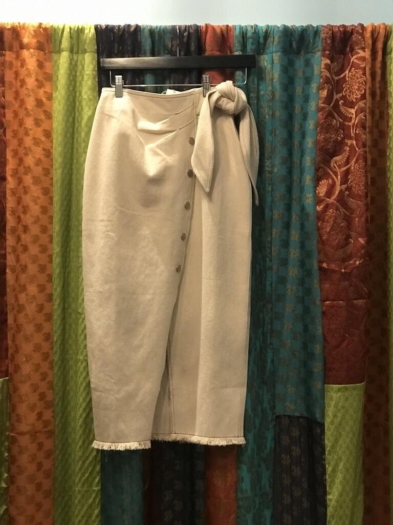 MR Fringe Hem Wrap Skirt