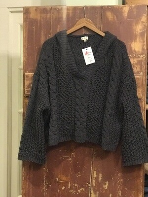 POL Charcoal Cropped Sweater
