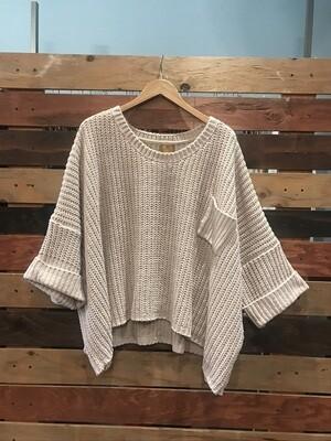 POL Oversized Pullover w/ Pocket