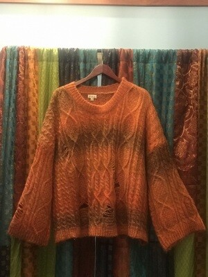 POL Roasted Orange Sweater