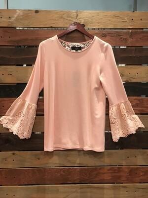 Joh Pink Ruffle Sleeve Top