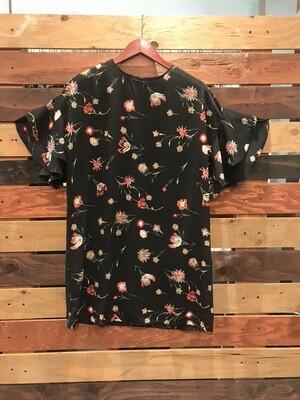 Sugar Lips Black Floral Print Dress