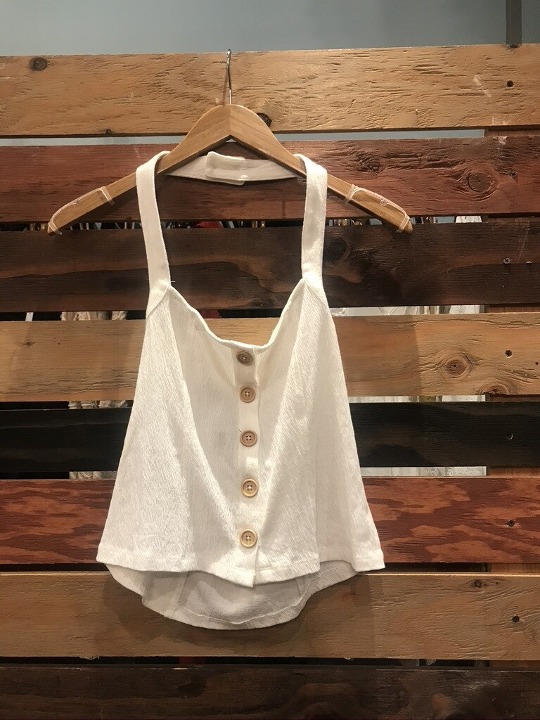 OF Off White Halter Top