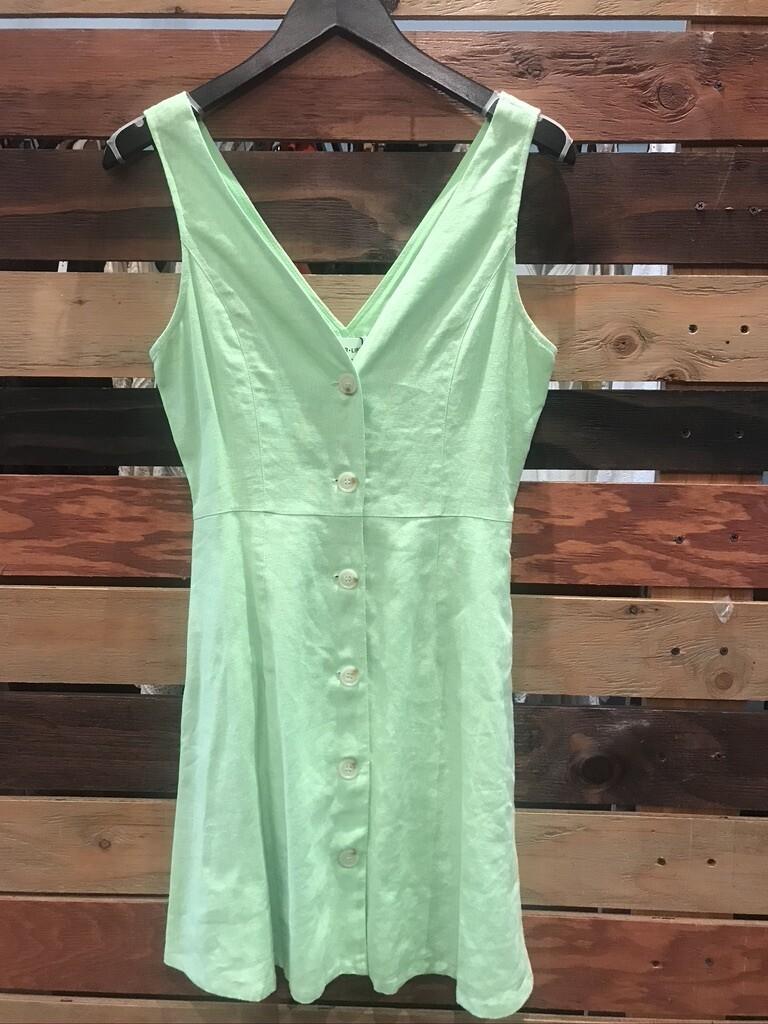 SL Lime Green Linen Dress