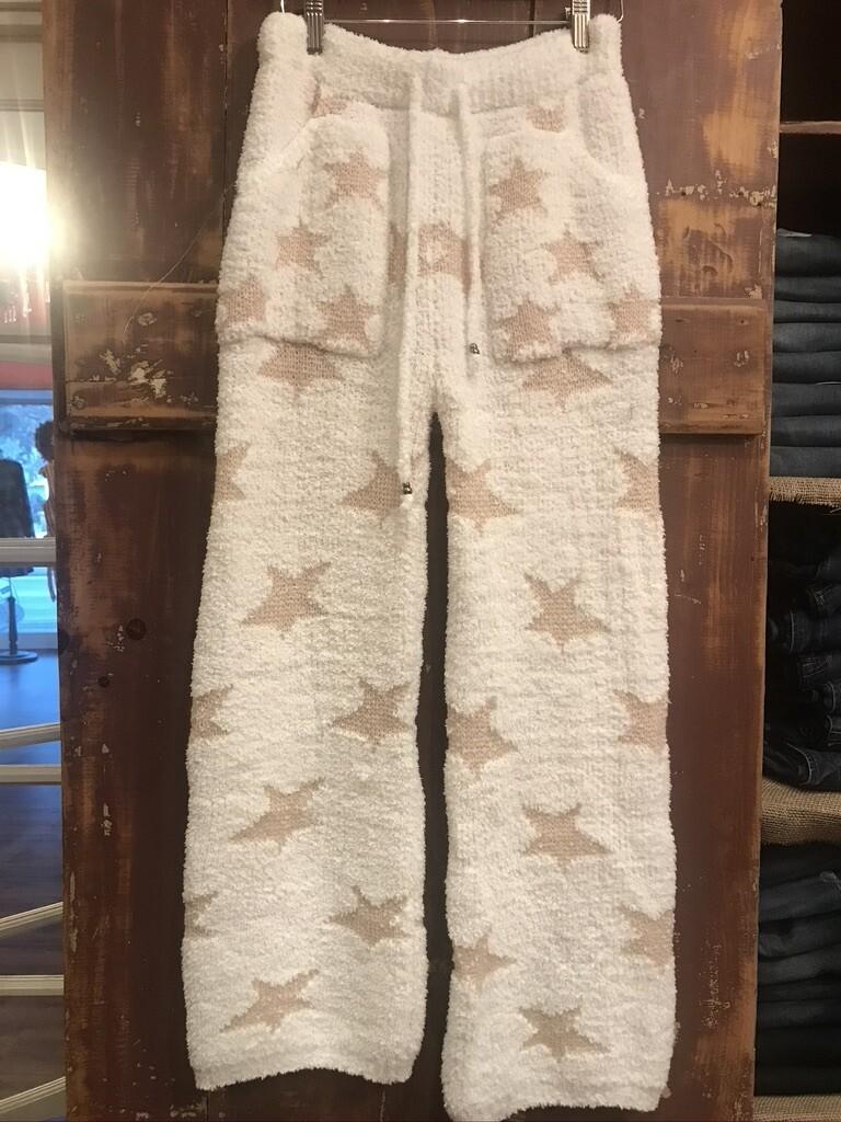 POL White and Tan Star Pant