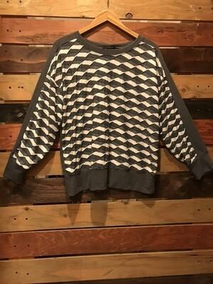 Nally & Millie Jacard Grey Sweatshirt