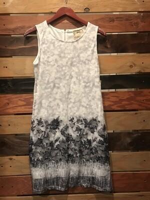 Vintage Black/White Flower Dress