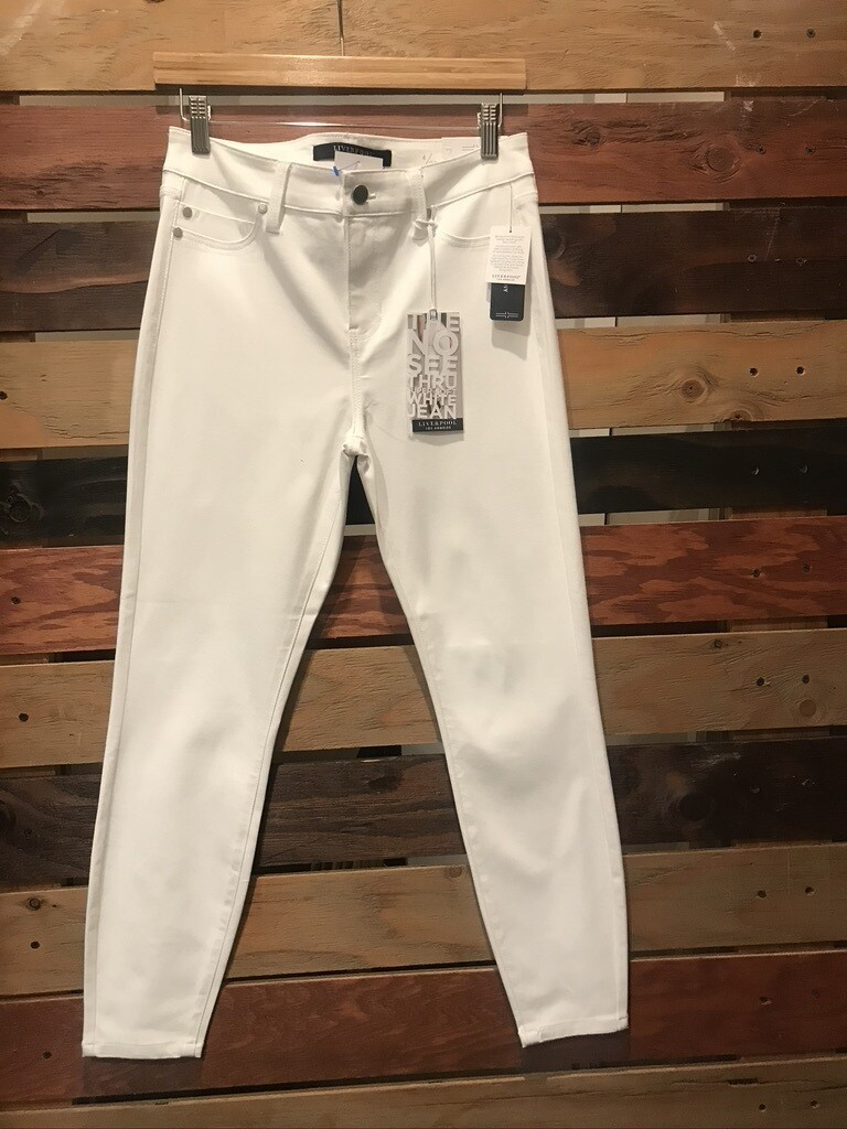 Liverpool White Crop Jeans