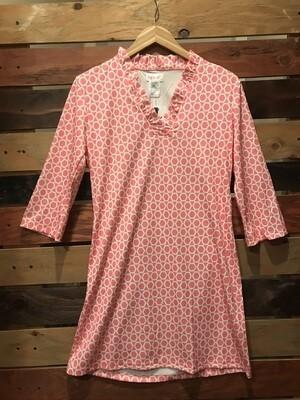 Top It Off Pink Mosaic Dress