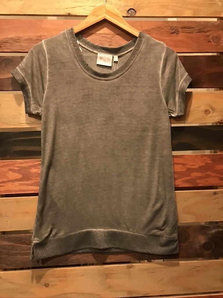 Dantelle Glitter Grey Top