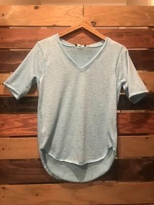 Nally & Millie Aqua Short Sleeved Top
