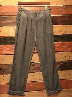 CL Raw Edge Pant- Grey- OS