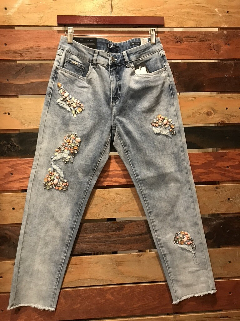 Jeans with Jewel Embellishment