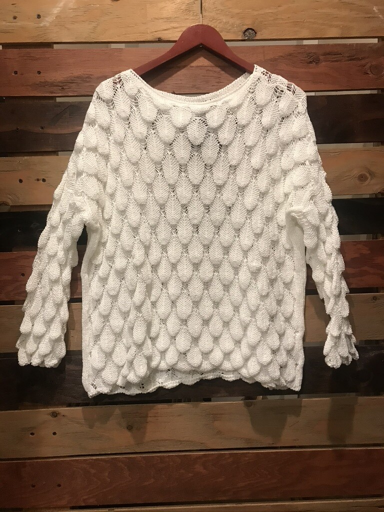 Made in Italy L/S Sweater - White