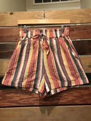 Gigio Multi Striped Short with Pocket