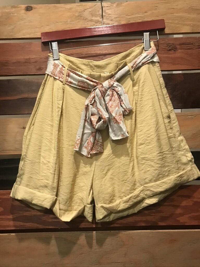 Scarf Tie Waist Shorts