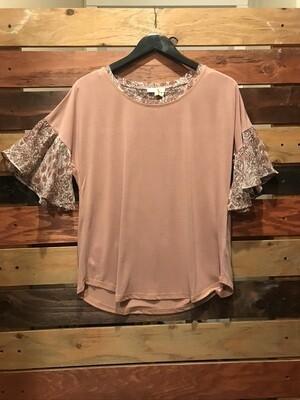 Mauve Model Print Shirt