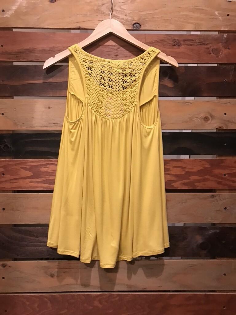 Crochet Yellow Tank Top