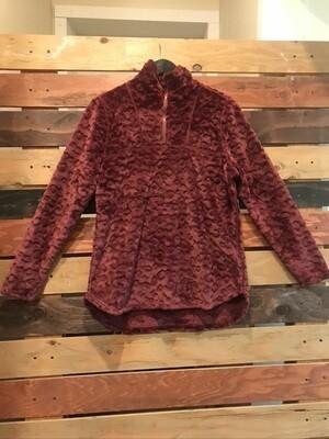 FDJ Frosty Fleece Pull Over- Mulberry