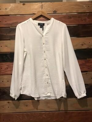 FDJ White Long Sleeve Shirt w/ Novelty Buttons