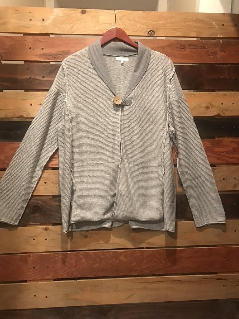 Habitat Grey One Button Closure Sweater