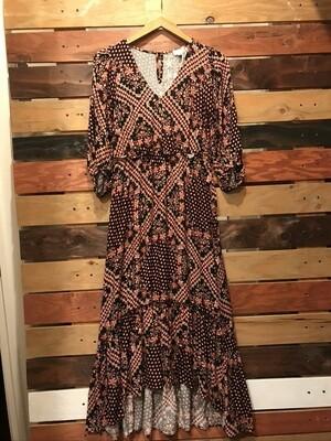 V-Neck Hi-Lo Maxi Dress