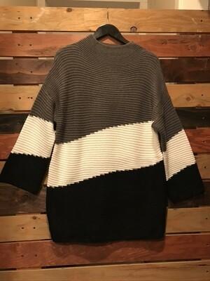 Colourblock Tunic Sweater
