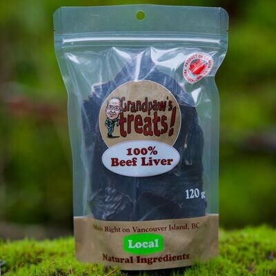 Grandpaw's Treats Beef Liver 120g
