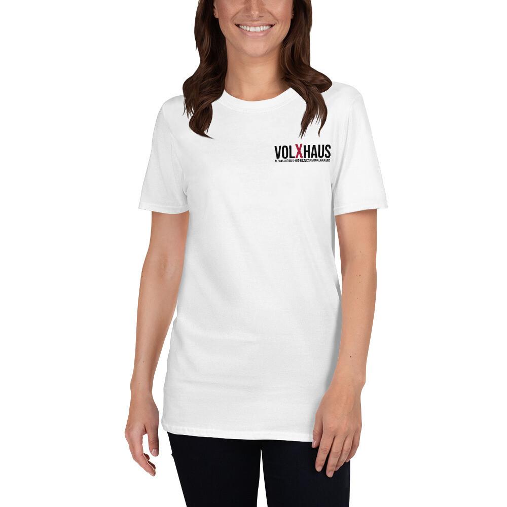 Kurzärmeliges Unisex Standard T-Shirt in Weiß