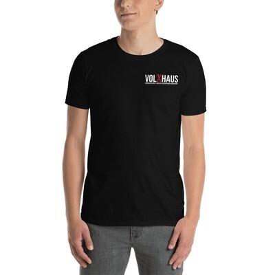 Kurzärmeliges Unisex-T-Shirt Schwarz