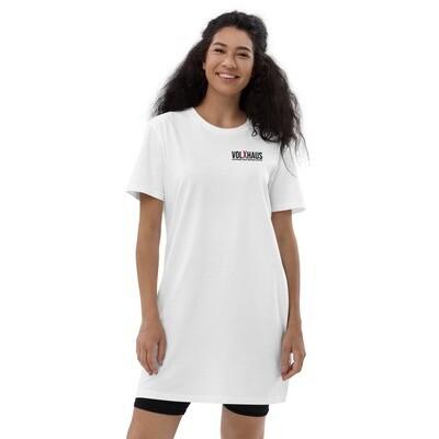 Bio-Baumwolle T-Shirt-Kleid versch. Farben