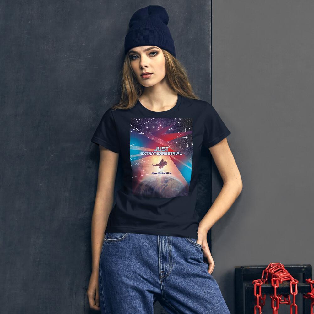 """Fashion Fit-T-Shirt für Damen """"JUST EXTRATERRESTRIAL"""""""