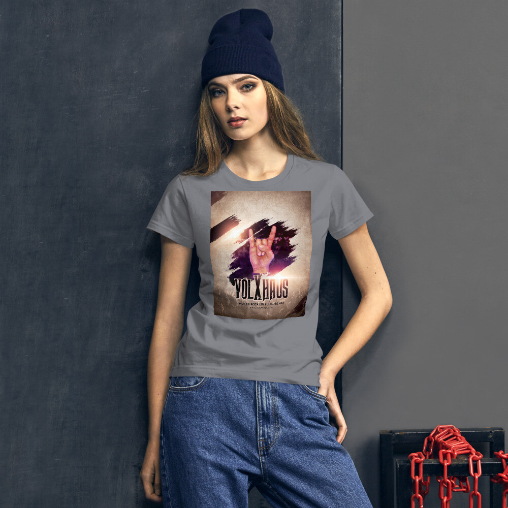 """Fashion Fit-T-Shirt für Damen """"POMMESGABEL"""""""