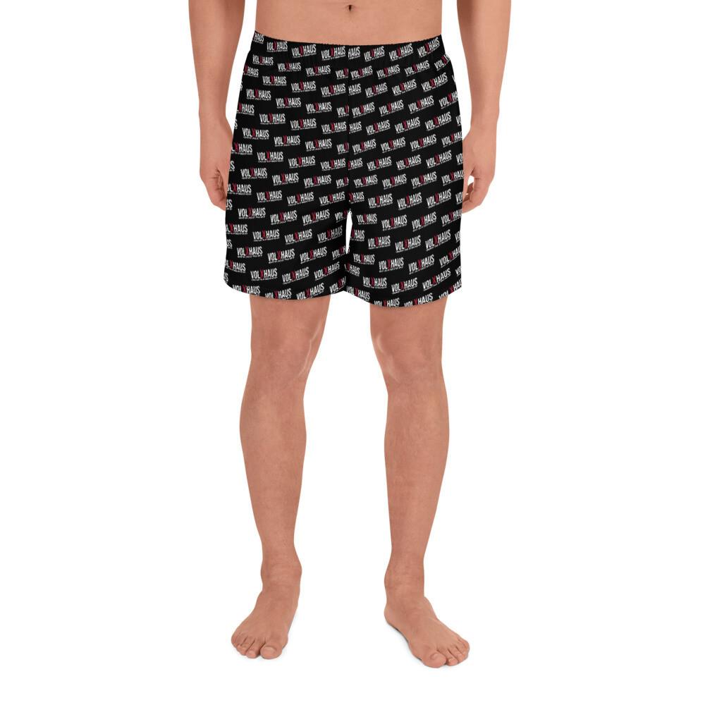 Lange Sport-Shorts für Herren in Schwarz