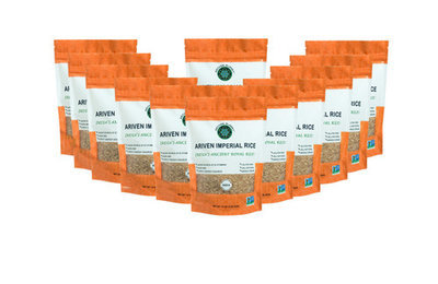 12 packages of Ariven Imperial Rice (12 pounds total)