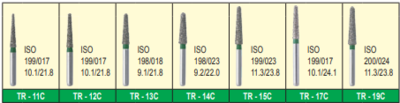 MANI DIA BURS (COARSE:125-150 μm) TR,TO, WR SERIES- PACK OF 5 BURS