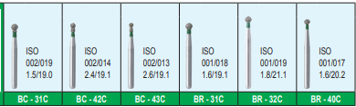 MANI DIA BURS (COARSE:125-150 μm) BC,BR,DI,EX SERIES- PACK OF 5 BURS