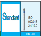 MANI DIA BURS (STANDARD :106-125 μm) - BR, BC, DI, EX, RS SERIES- PACK OF 5 BURS