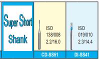 MANI DIA BURS (STANDARD :106-125 μm)-SUPER SHORT SHANK- PACK OF 5 BURS